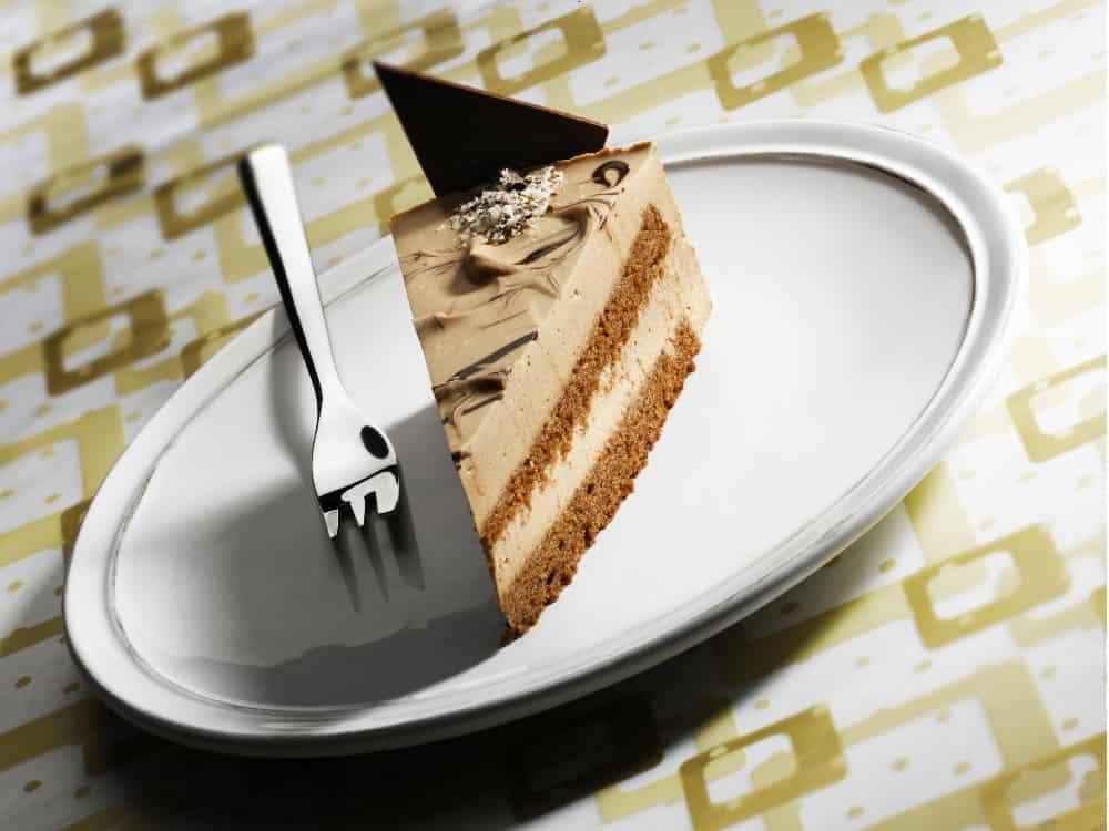 Čajový dort řez