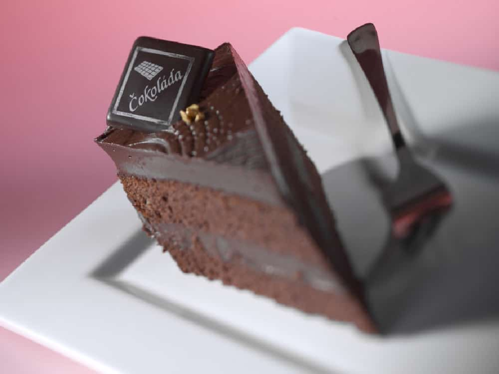 Čokoládový sen řez